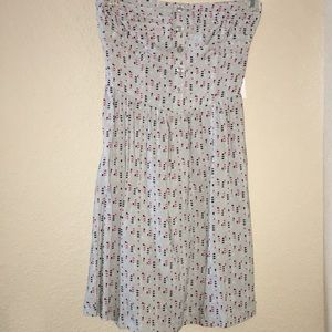 Pacsun Grey Patterned Strapless Dress